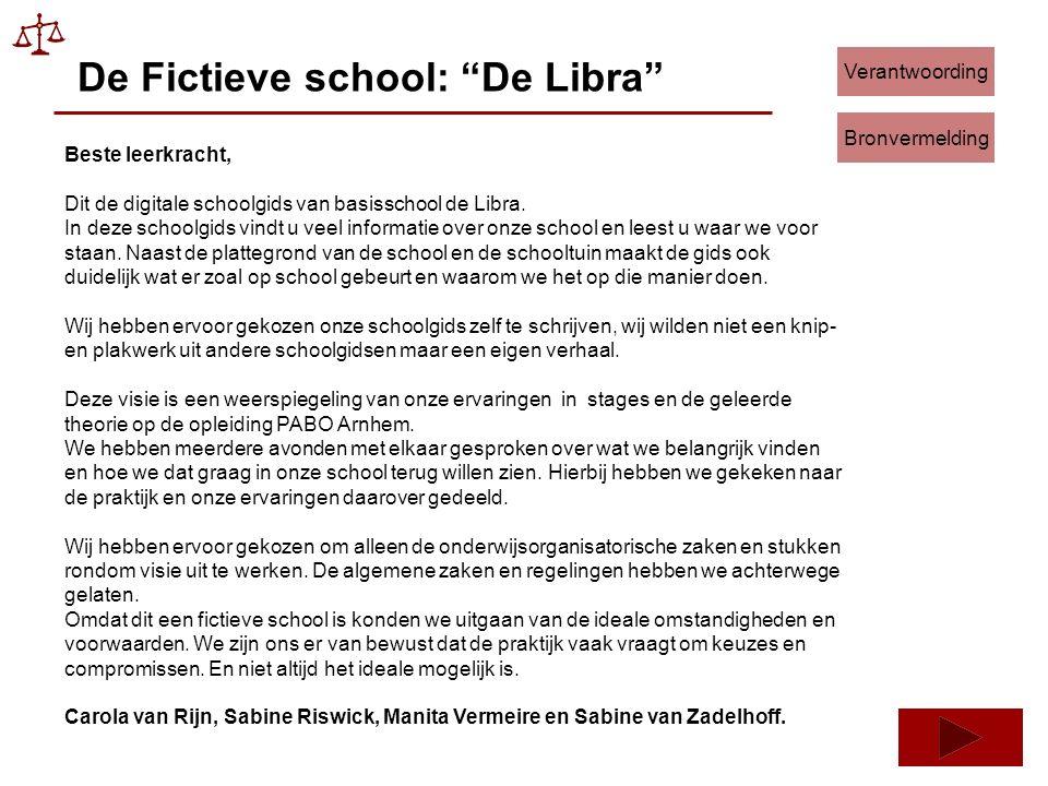 De Fictieve school: De Libra Beste leerkracht, Dit de digitale schoolgids van basisschool de Libra.