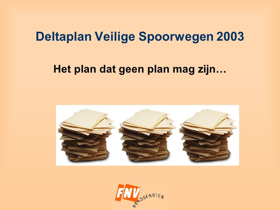 Deltaplan Veilige Spoorwegen 2003 Het plan dat geen plan mag zijn…