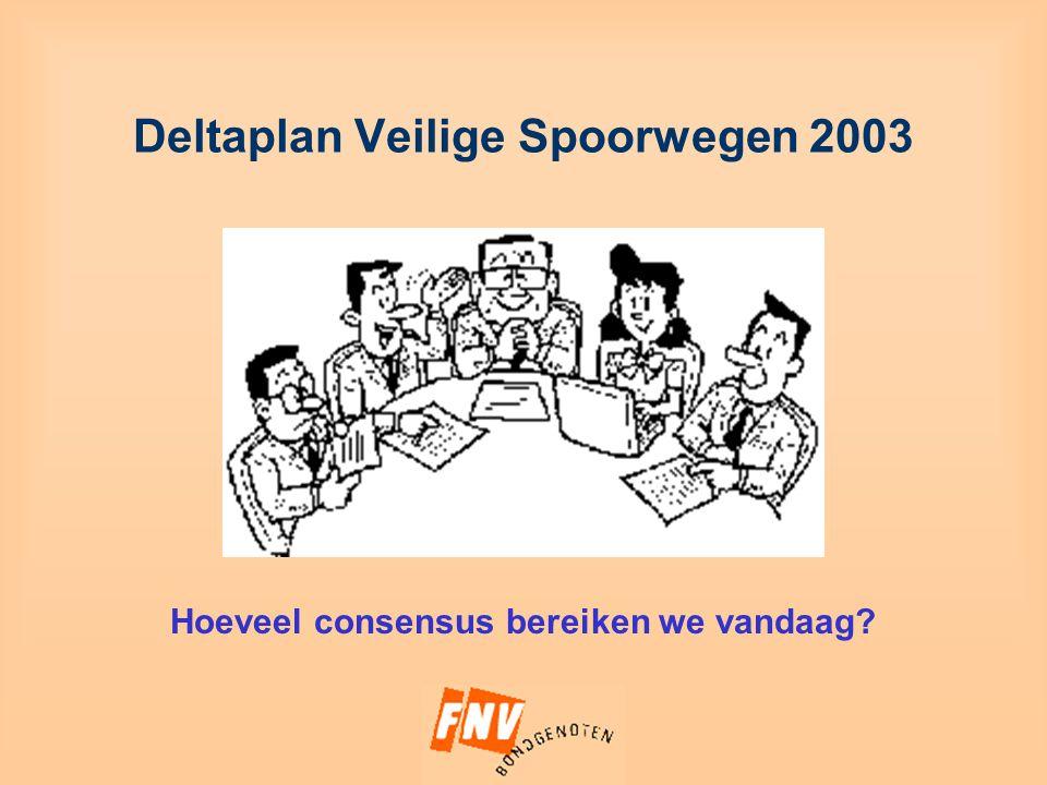 Deltaplan Veilige Spoorwegen 2003 Hoeveel consensus bereiken we vandaag