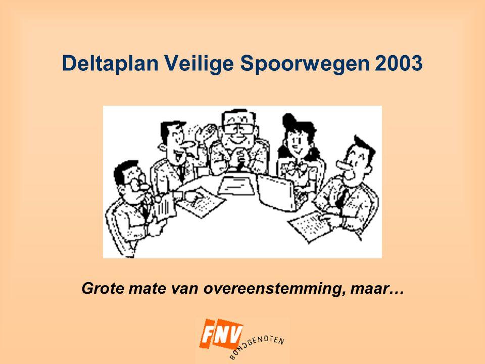 Deltaplan Veilige Spoorwegen 2003 Grote mate van overeenstemming, maar…
