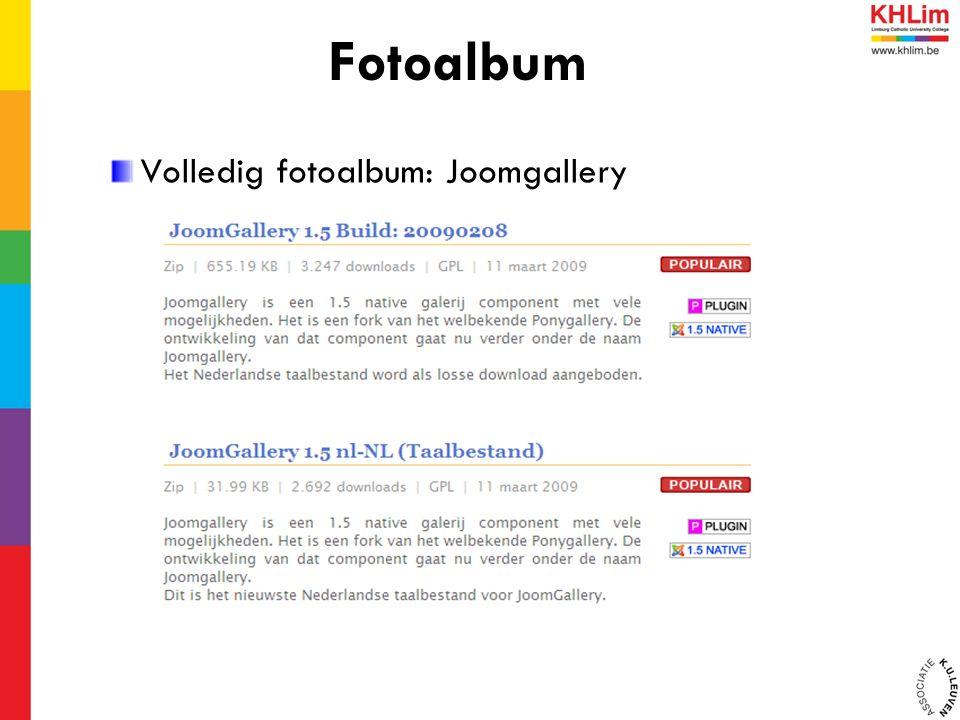 Volledig fotoalbum: Joomgallery Fotoalbum