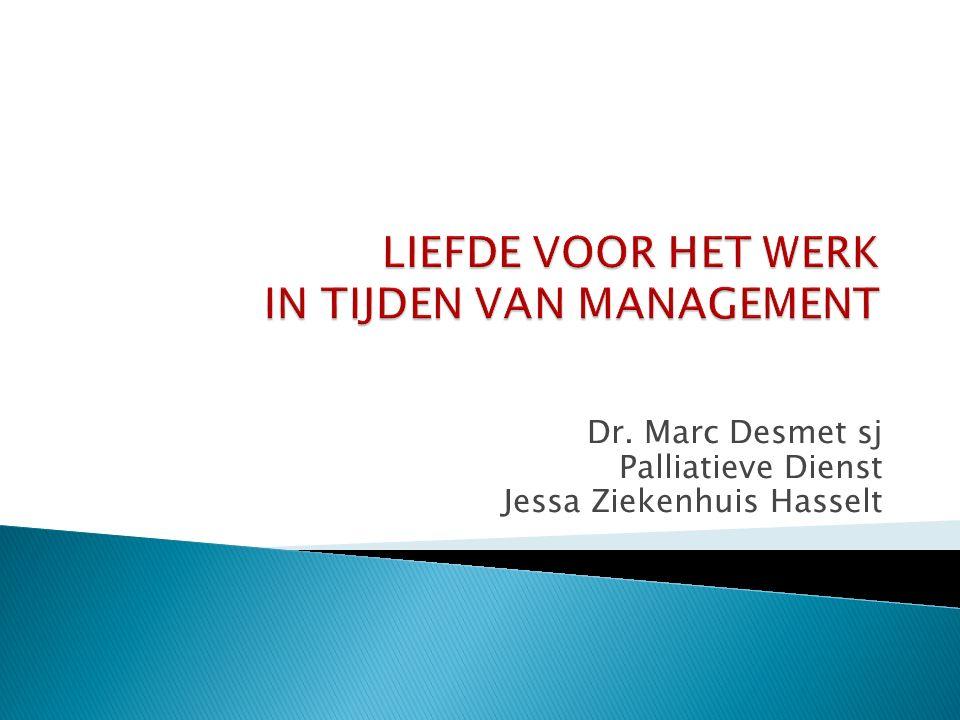 Dr. Marc Desmet sj Palliatieve Dienst Jessa Ziekenhuis Hasselt