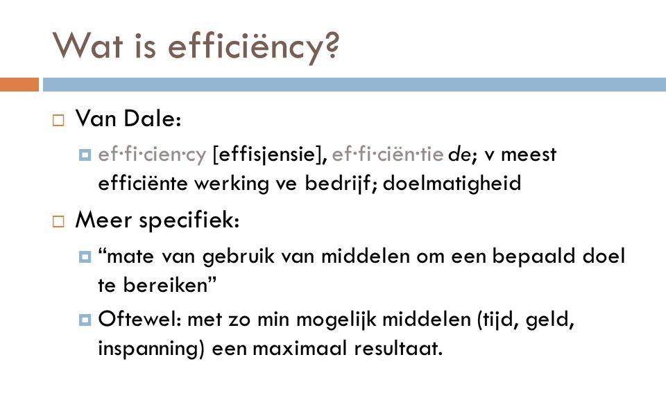 Wat is efficiëncy.