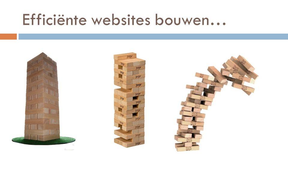 Efficiënte websites bouwen…