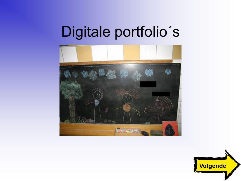 Digitale portfolio´s Volgende