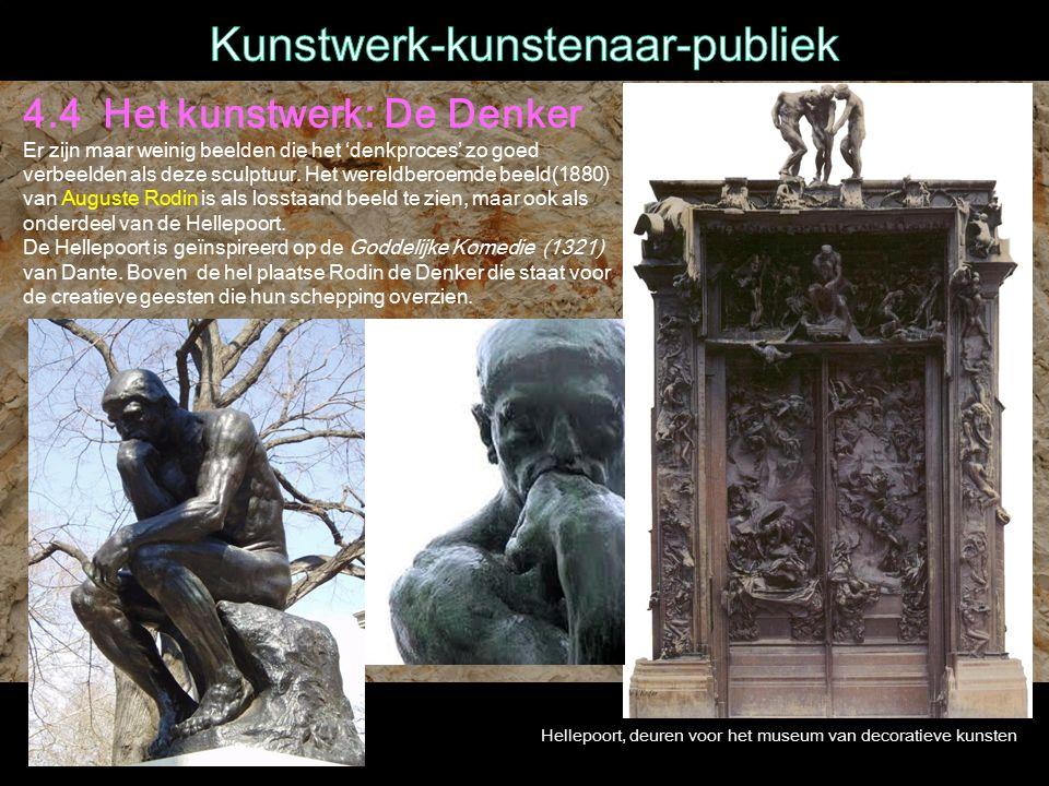 4.4 Het kunstwerk: De Denker Er zijn maar weinig beelden die het 'denkproces' zo goed verbeelden als deze sculptuur.