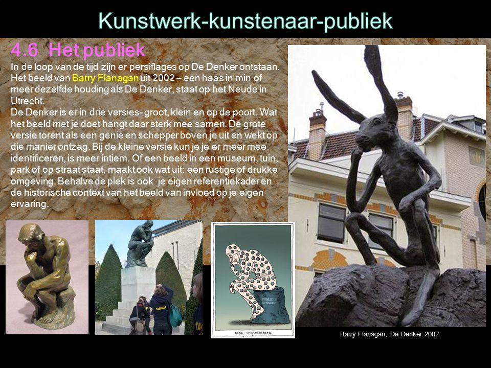 4.6 Het publiek In de loop van de tijd zijn er persiflages op De Denker ontstaan.