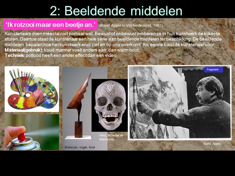 'Ik rotzooi maar een beetje an.' Fragment (Karel Appel in Vrij Nederland, 1961) Kunstenaars doen meestal niet zomaar wat.