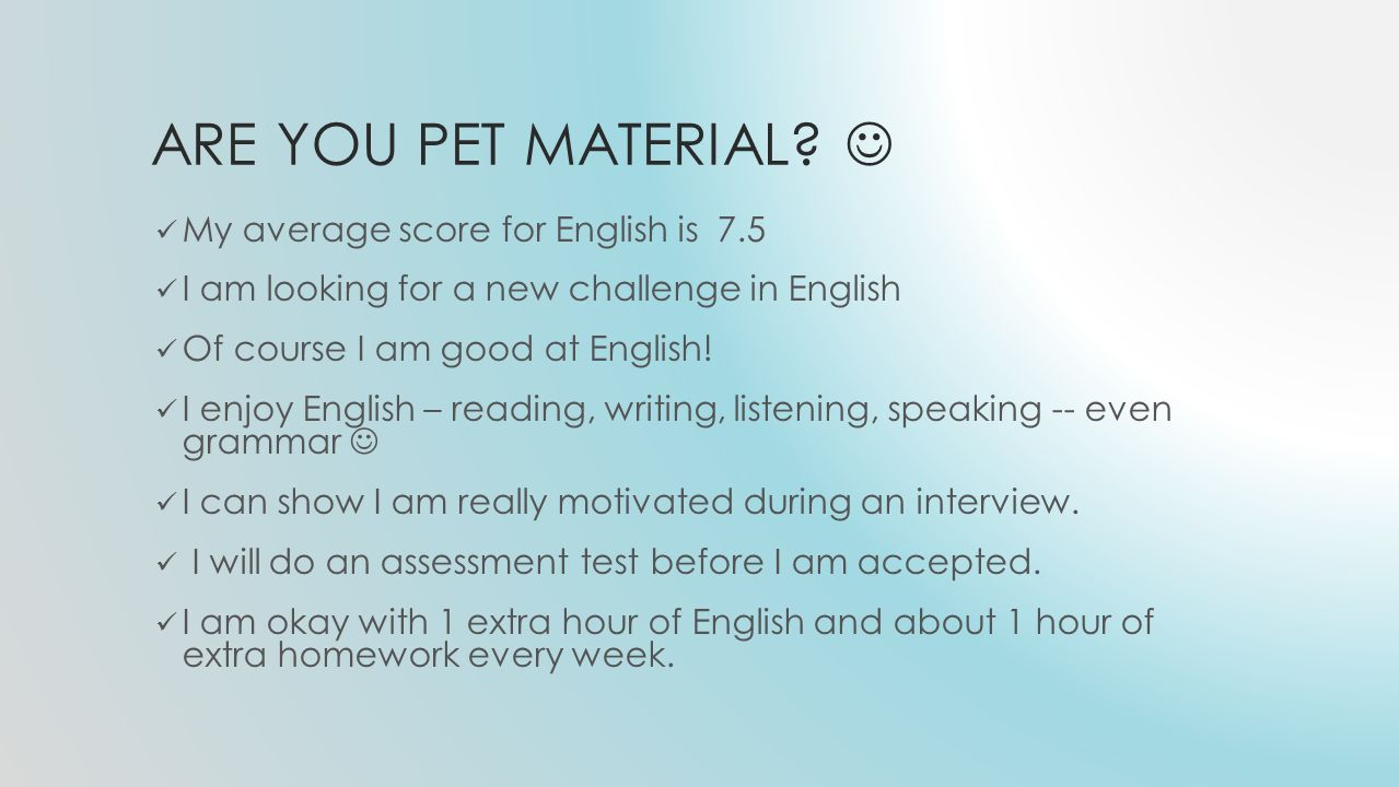 WHAT IS THE PET EXAM.