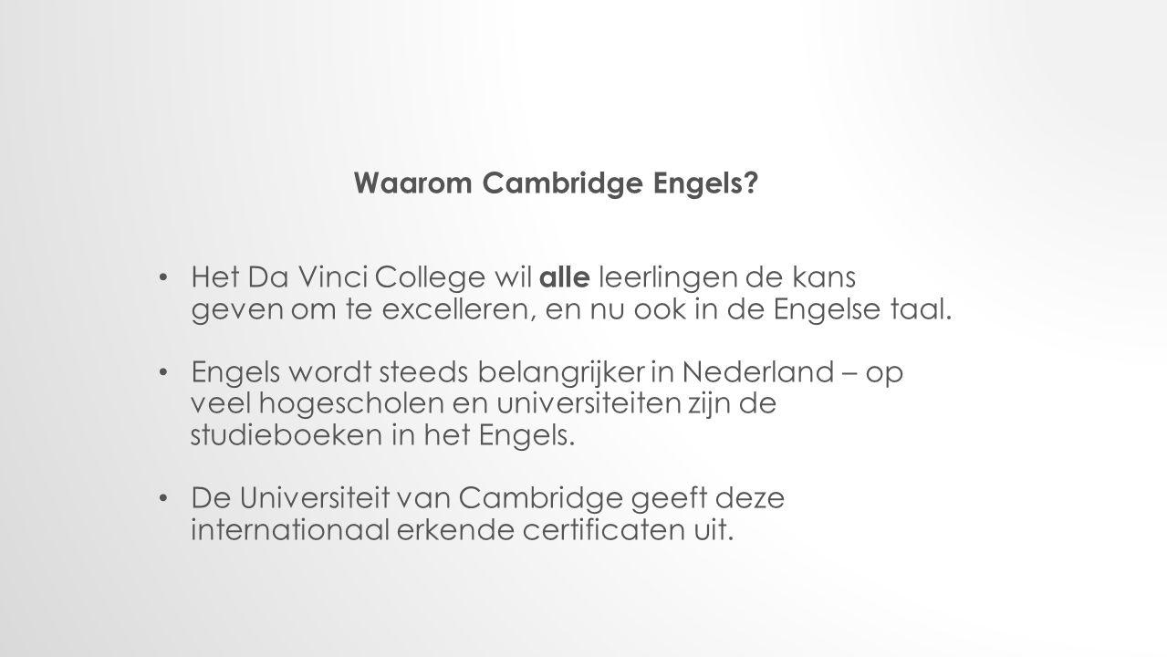 Waarom Cambridge Engels.