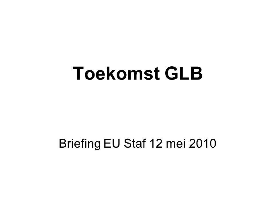 Briefing Status quo GLB budget Tijdpad Hervormingskader Issues (EC, EP, Raad, stakeholders)