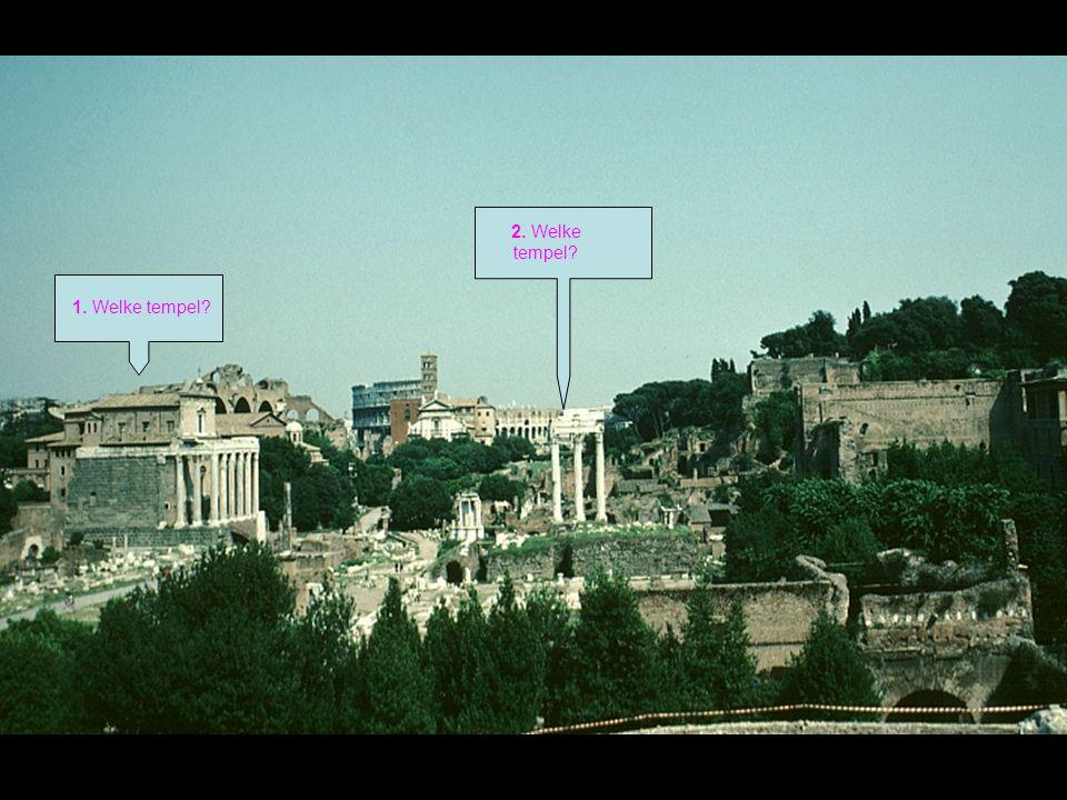 Helemaal aan de andere kant van het Forum staat de triomfboog van keizer Titus (79-81).