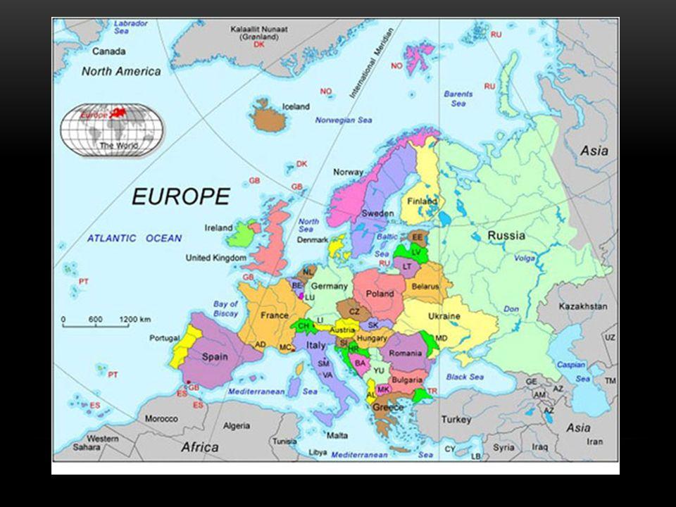 EUROPA Europa kan in de volgende geografische gebieden worden onderverdeeld: Centraal-Europa Noord-Europa Oost-Europa Zuidoost-Europa Zuid-Europa West-Europa