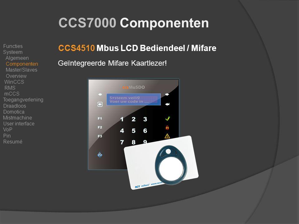 CCS4510 Mbus LCD Bediendeel / Mifare Geïntegreerde Mifare Kaartlezer.