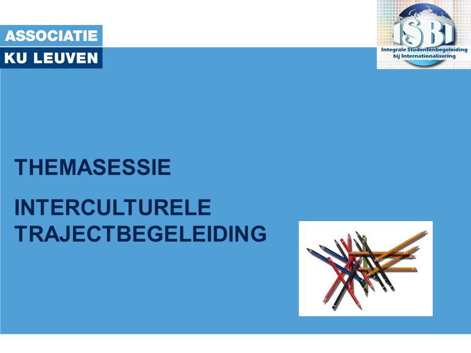 THEMASESSIE INTERCULTURELE TRAJECTBEGELEIDING