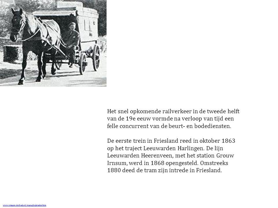 Het snel opkomende railverkeer in de tweede helft van de 19e eeuw vormde na verloop van tijd een felle concurrent van de beurt- en bodediensten.
