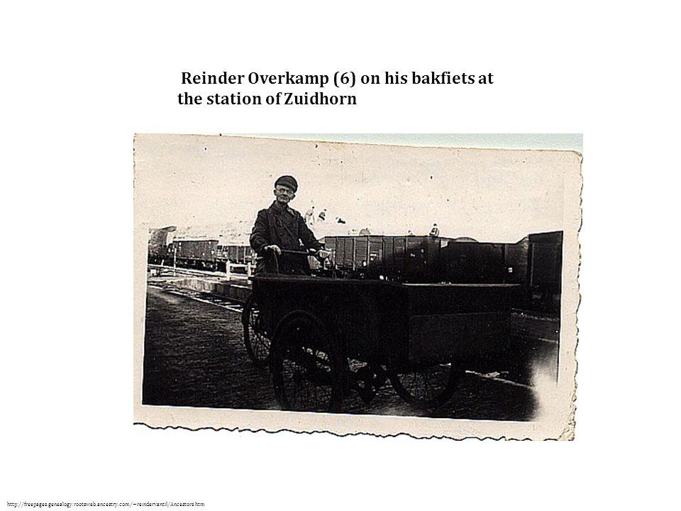 Reinder Overkamp (6) on his bakfiets at the station of Zuidhorn http://freepages.genealogy.rootsweb.ancestry.com/~reindervantil/Ancestors.htm