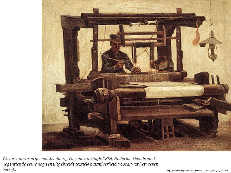 Wever van voren gezien. Schilderij, Vincent van Gogh, 1884.