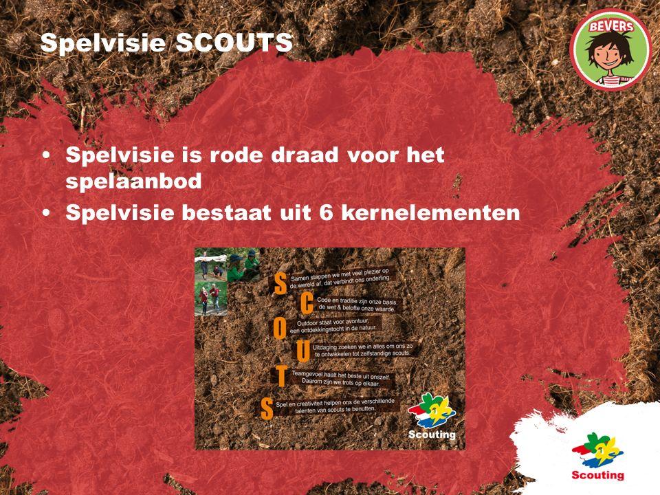 Spelvisie SCOUTS Spelvisie is rode draad voor het spelaanbod Spelvisie bestaat uit 6 kernelementen