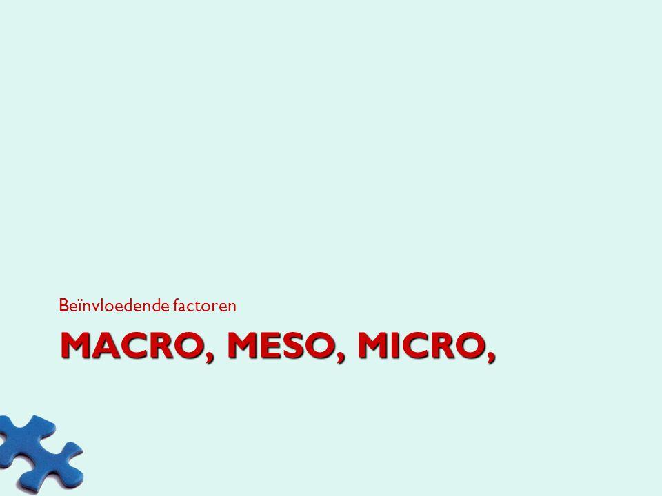 MACRO, MESO, MICRO, Beïnvloedende factoren