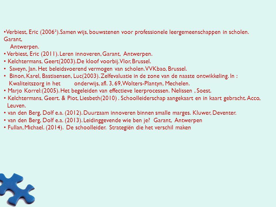 Dekeyser, Luc, Baert, Herman(1999). Projectonderwijs, Leren en werken in groepen, Acco, Leuven Dekeyser, Luc, Beunens,Lies, Baert, Herman(2002). Proje