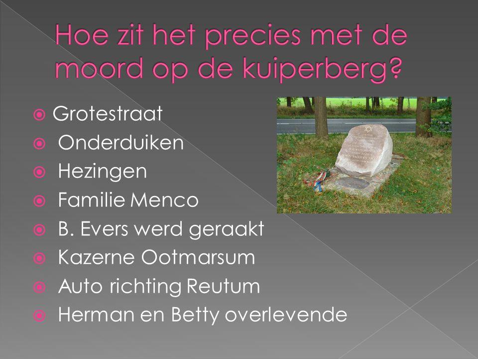  Grotestraat  Onderduiken  Hezingen  Familie Menco  B.