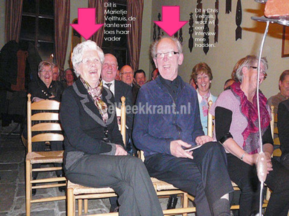 Dit is Marietje Velthuis, de tante van loes haar vader Dit is Chris Velthuis, waar wij een interview mee hadden.