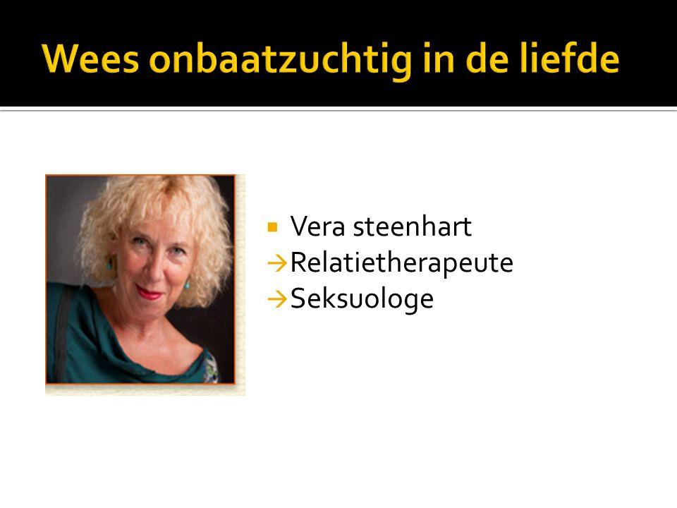  Vera steenhart  Relatietherapeute  Seksuologe