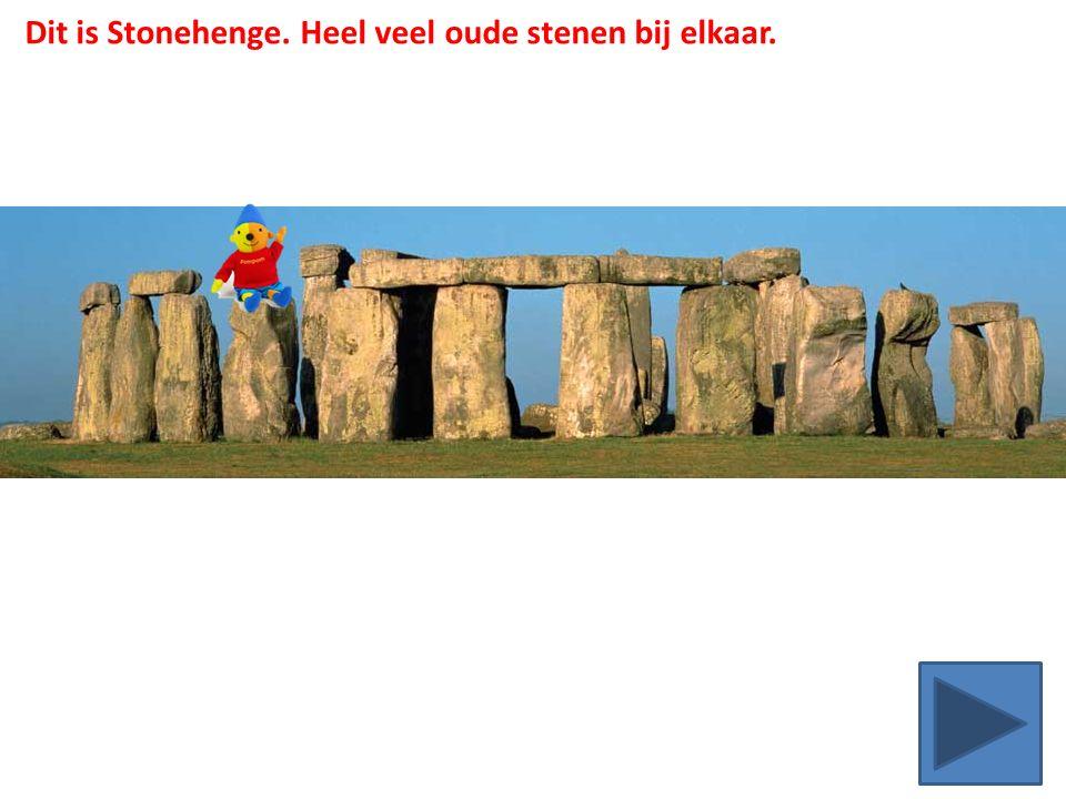Dit is Stonehenge. Heel veel oude stenen bij elkaar.