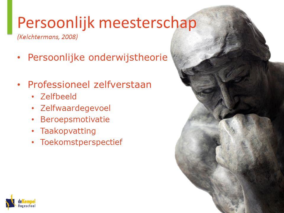 Aspecten van meesterschap Onderwijsraad (2013). Verkenning Leraar zijn. Den Haag: Ministerie OC&W.