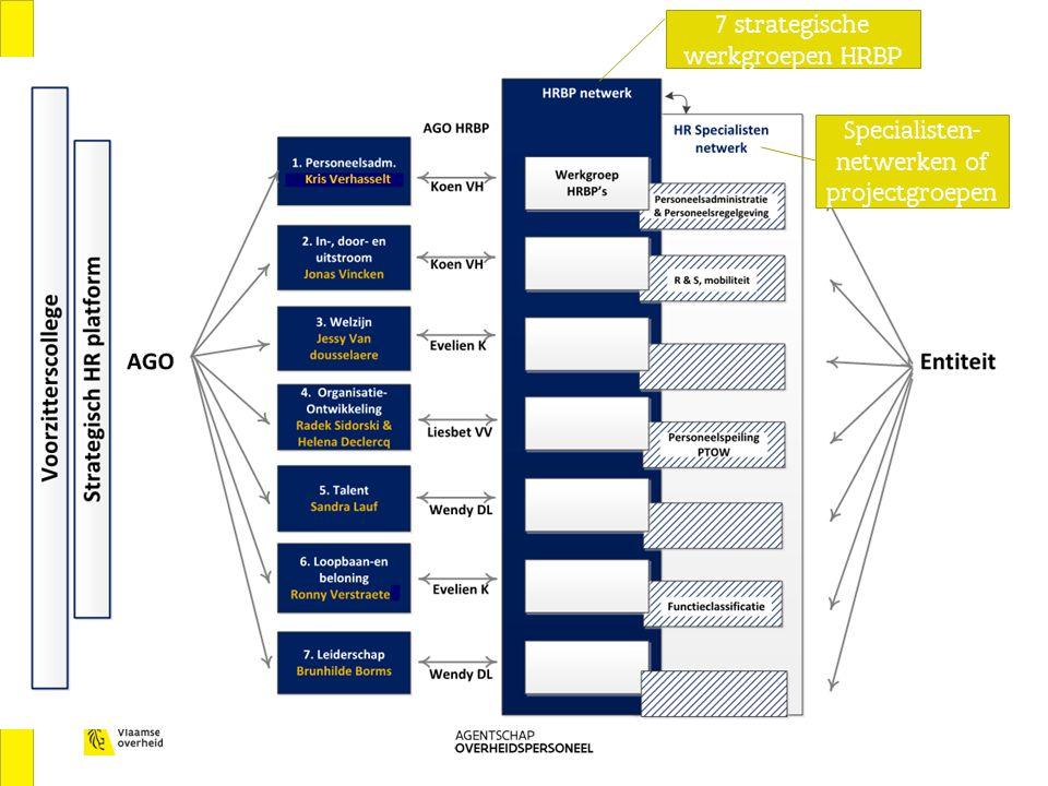 Ervaringen HR netwerkmodel in de praktijk 7 strategische werkgroepen HRBP Specialisten- netwerken of projectgroepen