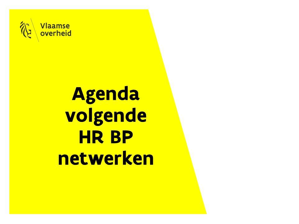Agenda volgende HR BP netwerken