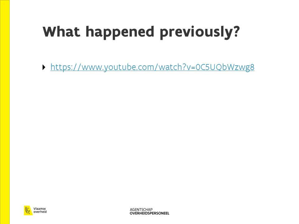 What happened previously? https://www.youtube.com/watch?v=0C5UQbWzwg8
