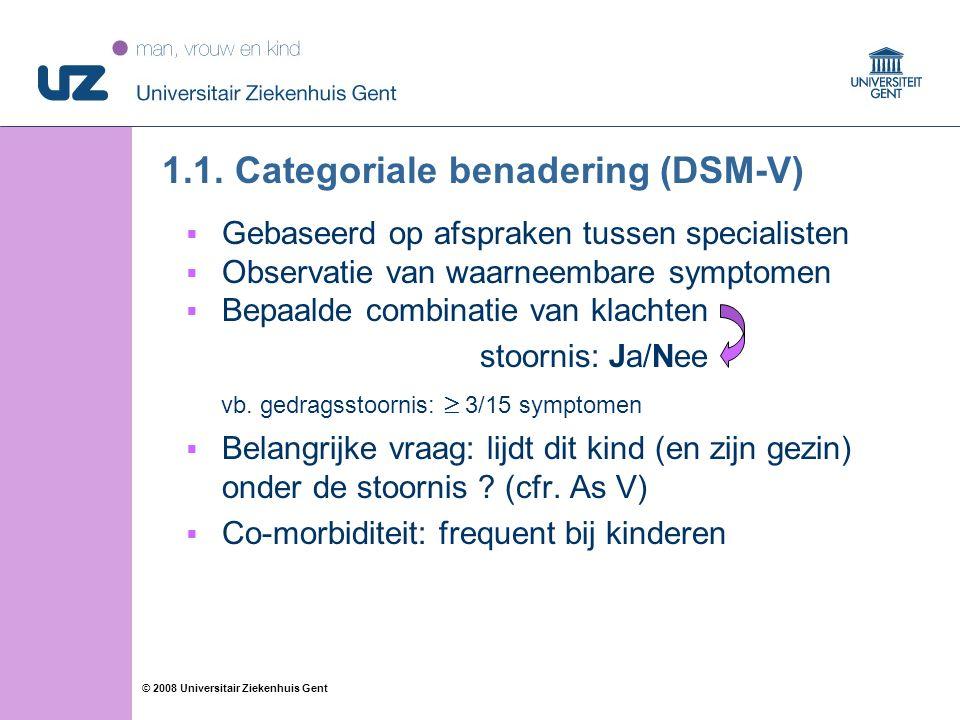 11 © 2008 Universitair Ziekenhuis Gent 1.1.