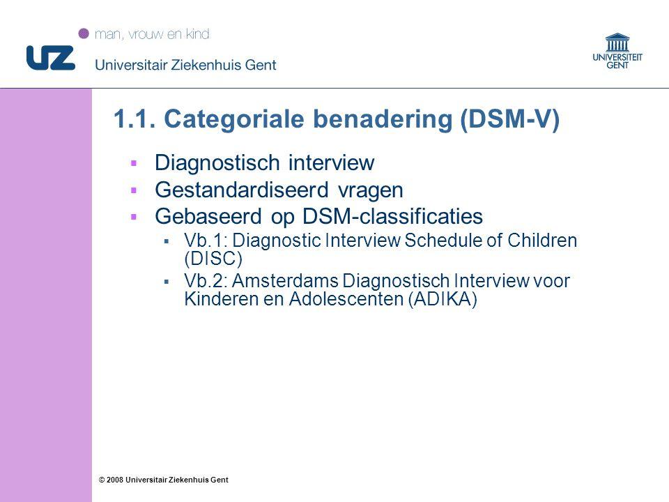 12 © 2008 Universitair Ziekenhuis Gent 1.1.