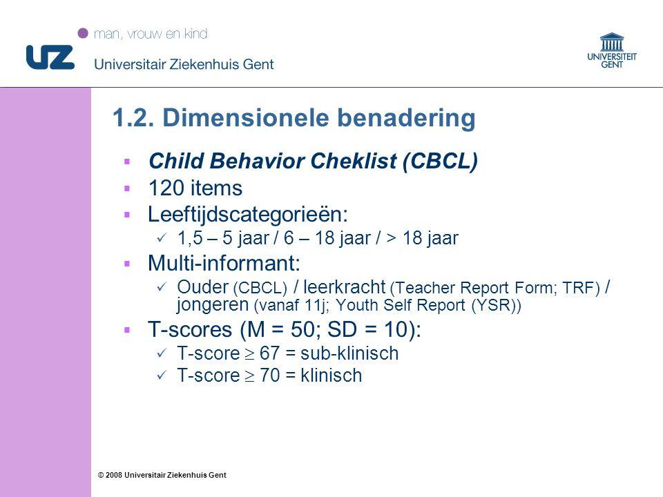15 © 2008 Universitair Ziekenhuis Gent 1.2.