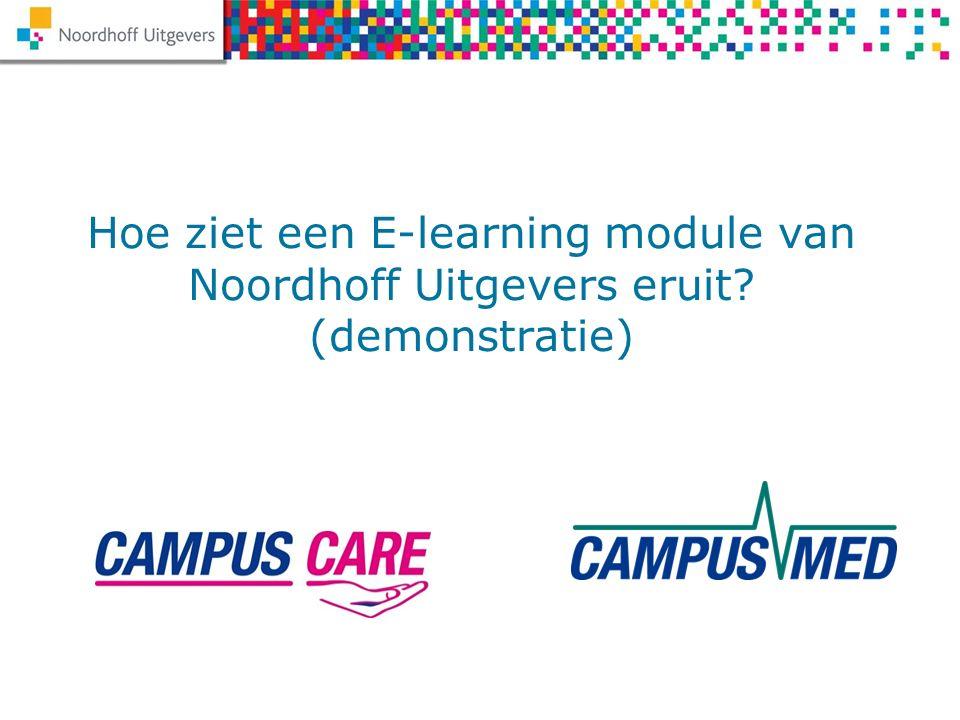Hoe ziet een E-learning module van Noordhoff Uitgevers eruit (demonstratie)