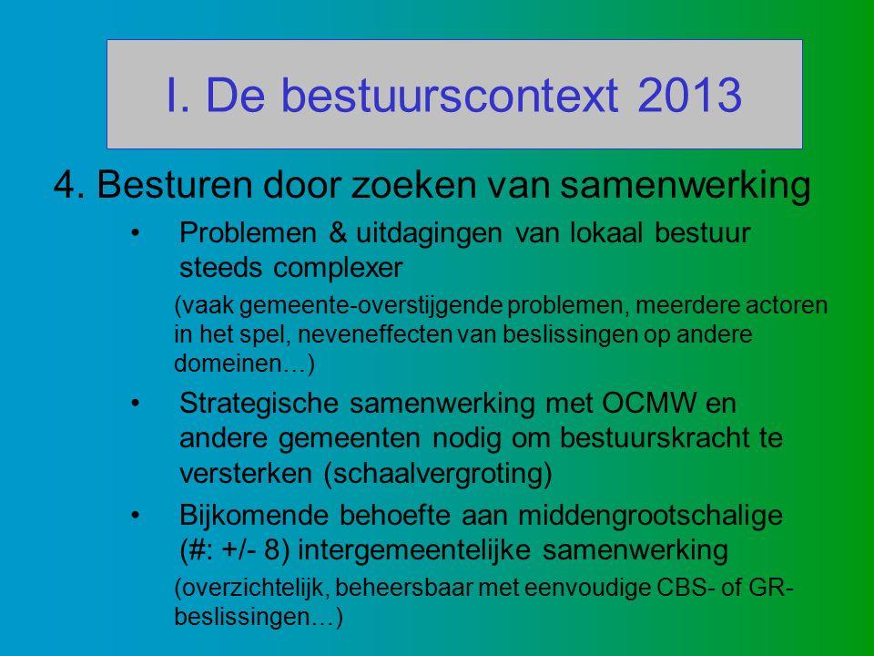 I. De bestuurscontext 2013 4.