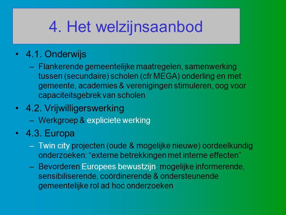 4. Het welzijnsaanbod 4.1.