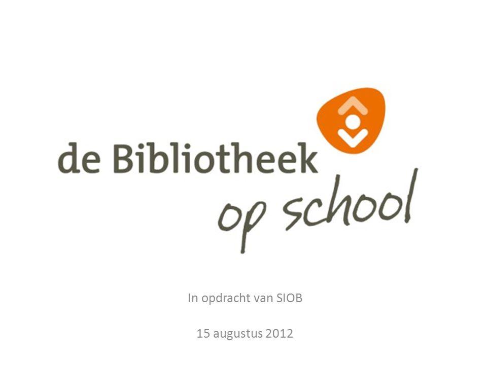 In opdracht van SIOB 15 augustus 2012