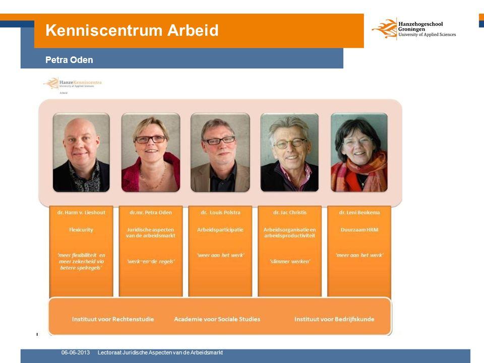 06-06-2013Lectoraat Juridische Aspecten van de Arbeidsmarkt Kenniscentrum Arbeid Petra Oden