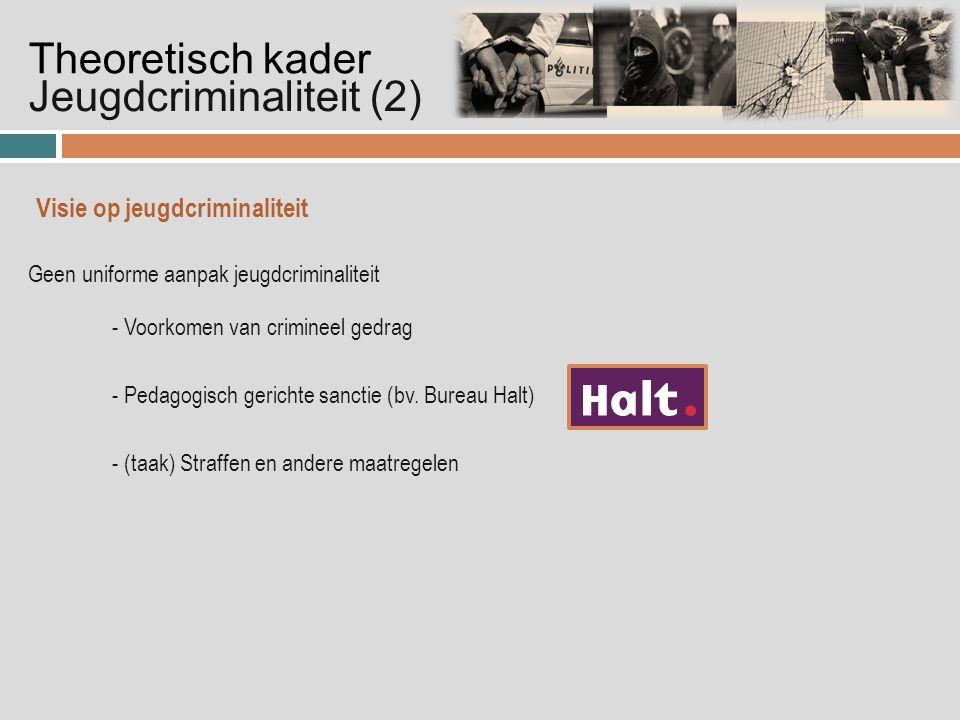 Geen uniforme aanpak jeugdcriminaliteit - Voorkomen van crimineel gedrag - Pedagogisch gerichte sanctie (bv.