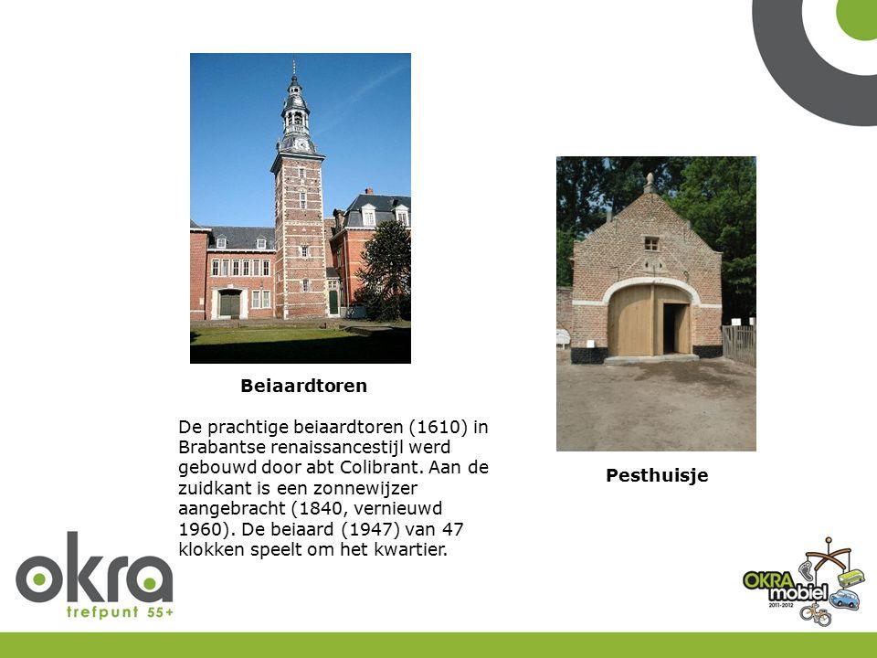 Pesthuisje Beiaardtoren De prachtige beiaardtoren (1610) in Brabantse renaissancestijl werd gebouwd door abt Colibrant. Aan de zuidkant is een zonnewi