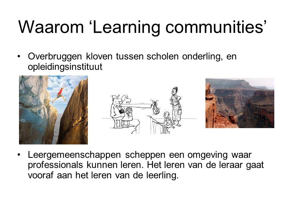 Waarom 'Learning communities' Overbruggen kloven tussen scholen onderling, en opleidingsinstituut Leergemeenschappen scheppen een omgeving waar professionals kunnen leren.