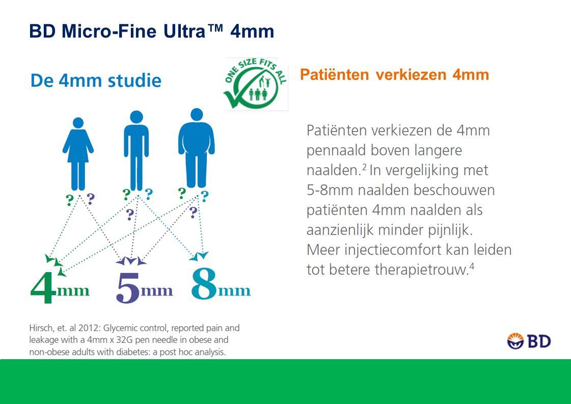 Patiënten verkiezen 4mm BD Micro-Fine Ultra™ 4mm