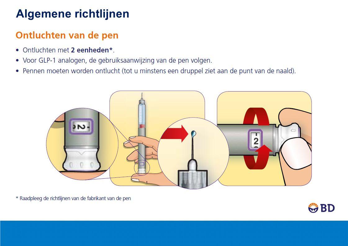 2 In welke lichaamsdelen insuline of GLP-1 injecteren.