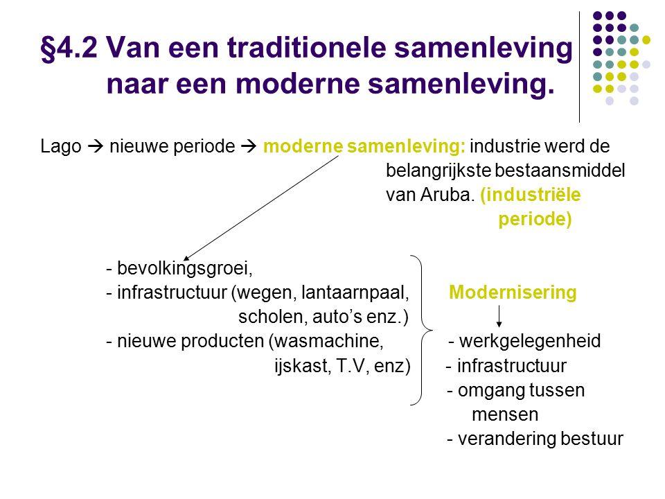 §4.2 Van een traditionele samenleving naar een moderne samenleving.