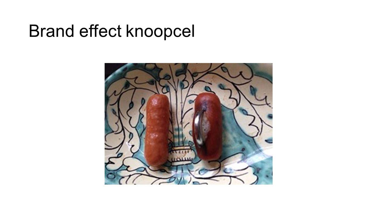 Brand effect knoopcel