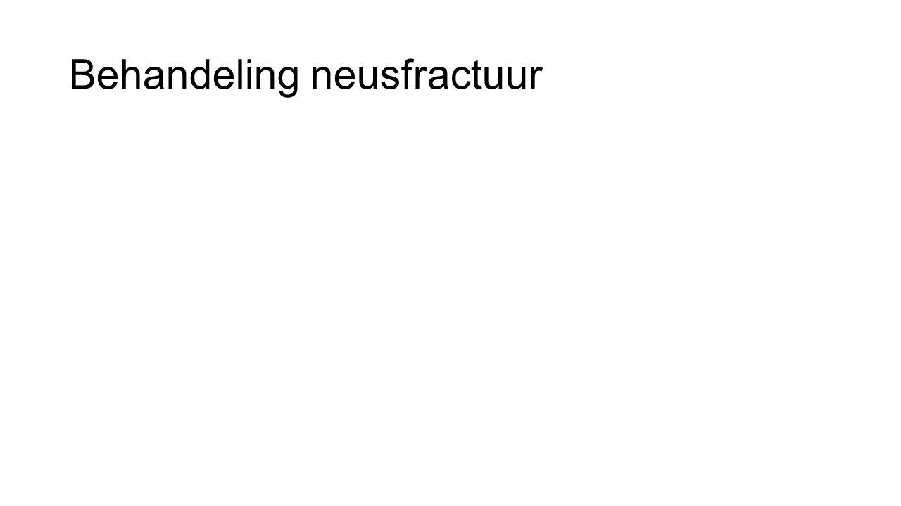 Behandeling neusfractuur