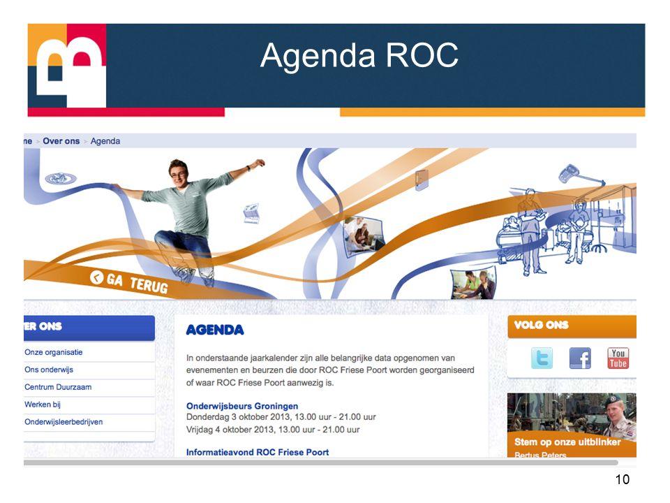 Agenda ROC 10